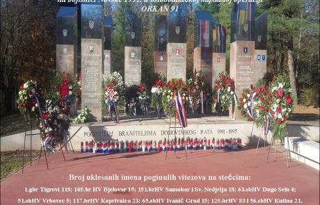 OSLOBAĐANJE ZAPADNE SLAVONIJE 1991 – Trokut, Novska, 29.10.2020.